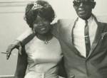 Koko Taylor in the Role of Fan Visiting Lightnin' Hopkins, Western Hall, 1965