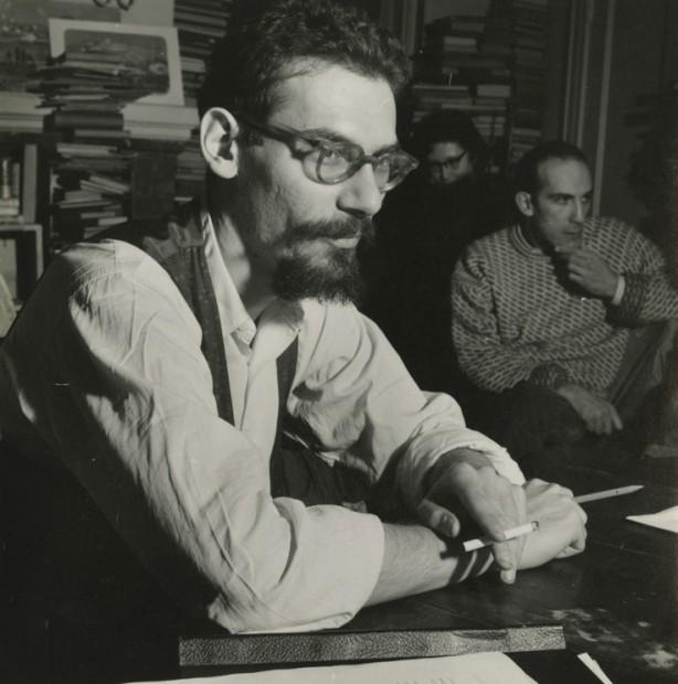 Robert Schiller<br>Joel Oppenheimer with Cigarette, n.d.