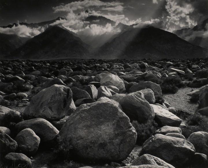 Ansel Adams<br>Mount Williamson from Manzanar, Sierra Nevada, California, c.1944