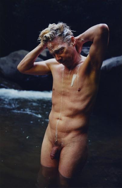 Reuben Cox<br>Tom Meyer Bathing in Middle Creek Falls, n.d.