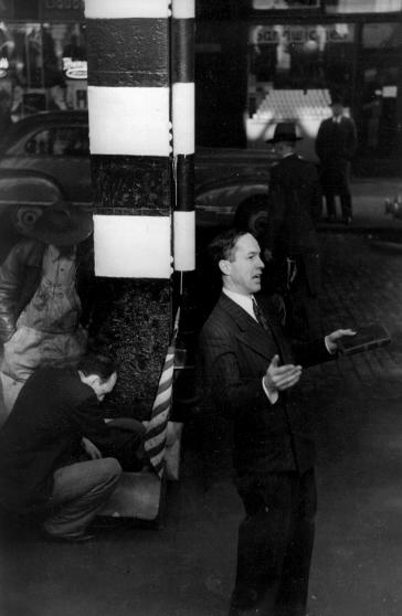 Preacher Under Wall Street, c. 1948.