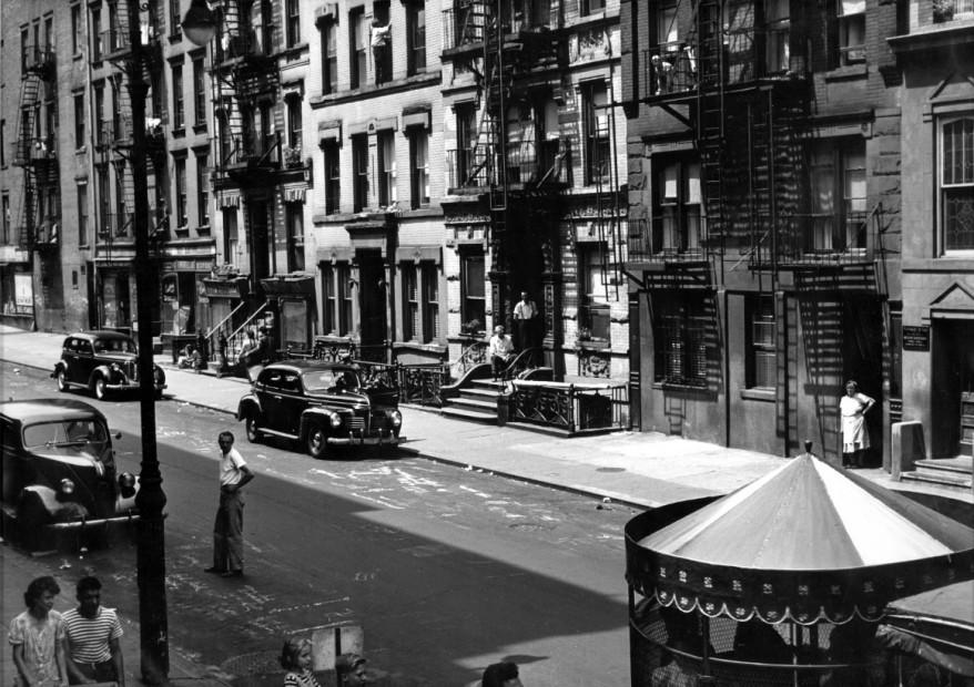 Shoe shine boy of East Tenth St. NYC, 1947
