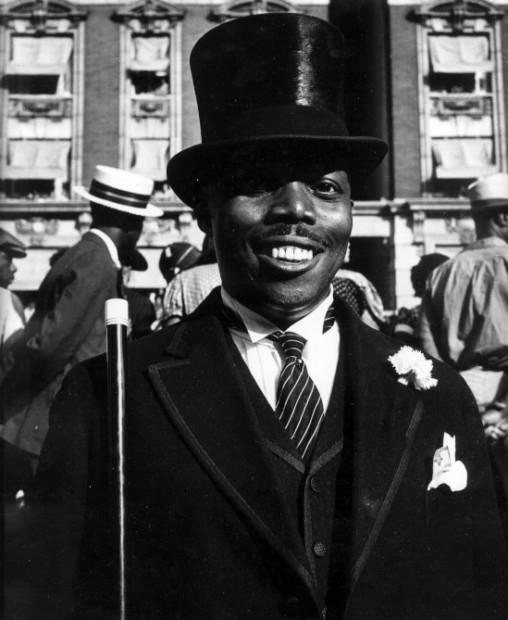 """Man in top Hat, Elks Parade,"" Harlem Document, 1938"