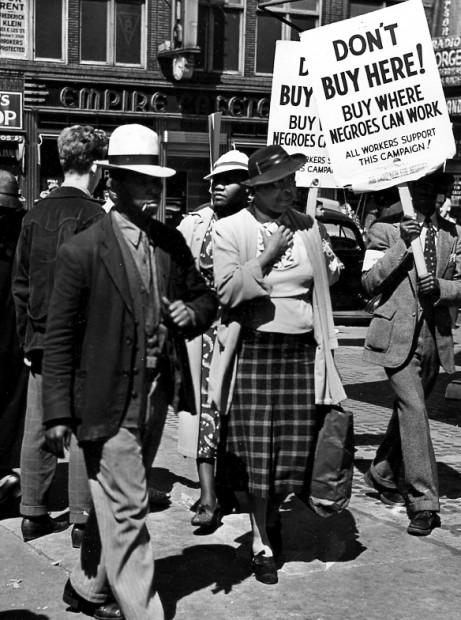 """125th Stree Pickets,"" Harlem Document, 1937"