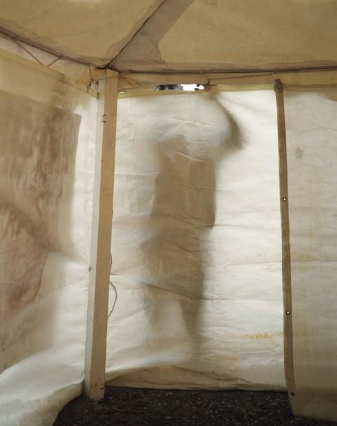 Man Looking in Revival Tent, 2004