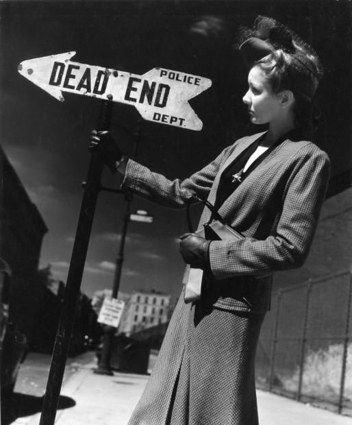 André Kertész<br>Woman Holding Sign, 1940s
