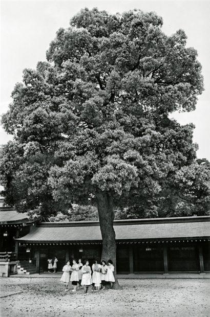 Ken Bloom<br>Meiji Shrine, Shop Girls, May 1976
