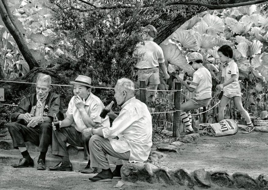 Ken Bloom<br>Contrasting Generations, Hachimangu Shrine, September 1977