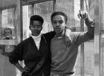 Thumbnail image: A Couple at a Main Street Bus Stop, 1988
