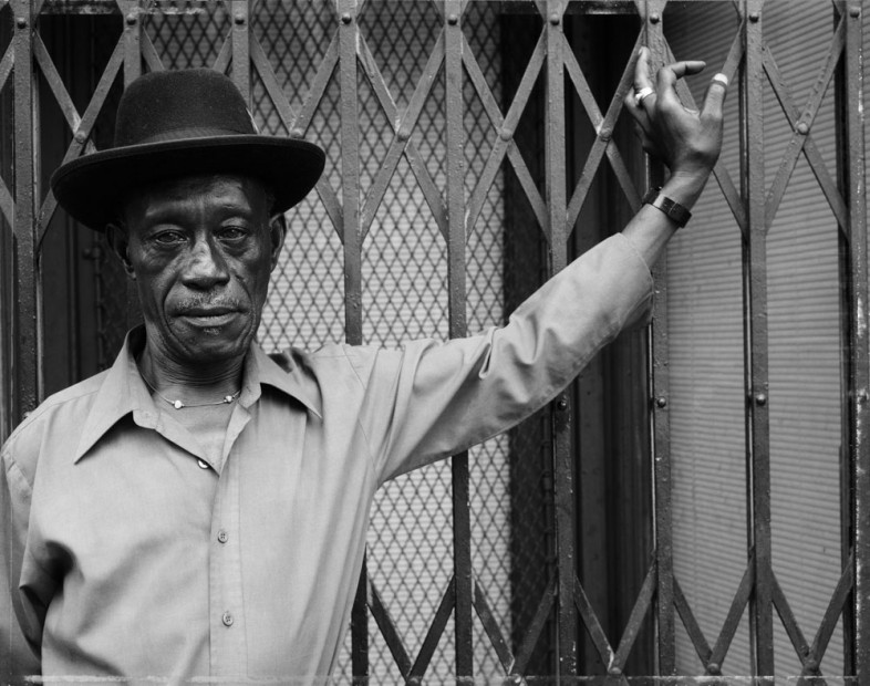 A Man at Fulton Street and Cambridge Place, 1988