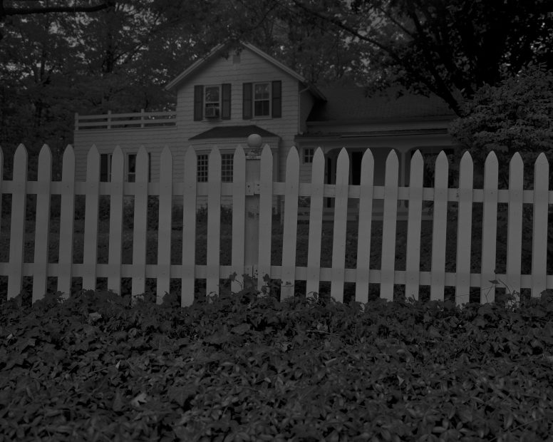 Untitled #1, (Picket Fence and Farmhouse), from Night Coming Tenderly, Black, 2017