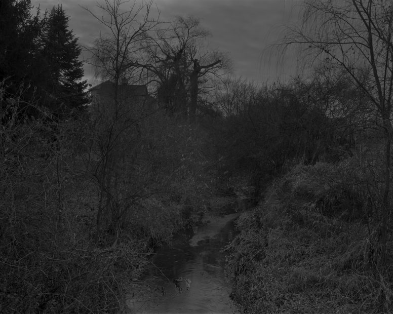 Untitled #18, (Creek and House), from Night Coming Tenderly, Black, 2017