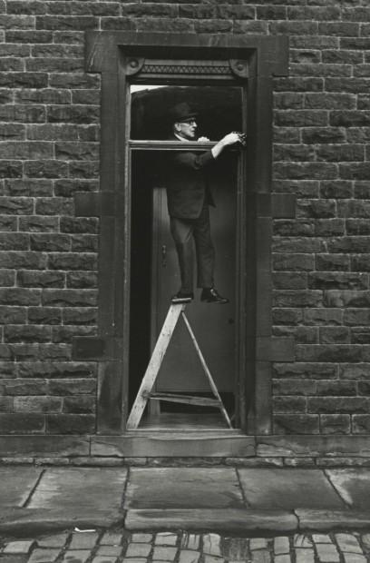 Tom Greenwood Cleaning, Hebden Bridge, Yorkshire, England, 1974