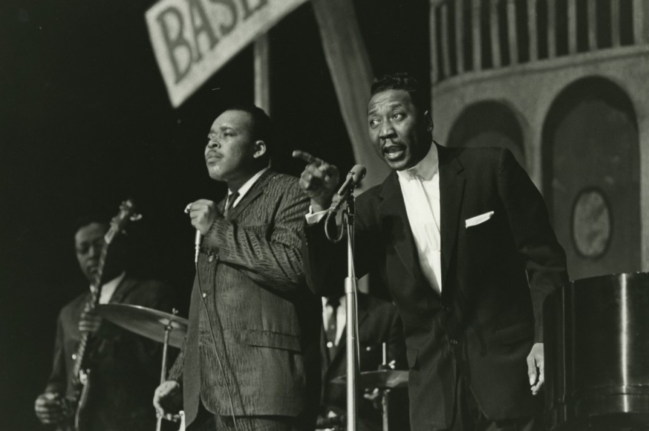 Muddy Waters and James Cotton, Down Beat Jazz Festival, 1965