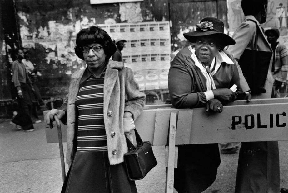 Two Women at a Parade, Harlem, 1978
