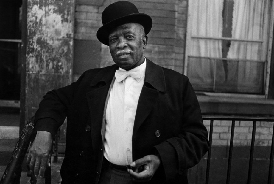 A Man in a Bowler Hat, Harlem, 1976
