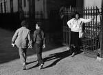 Thumbnail image: A Woman and Two Boys Passing, Harlem, 1978