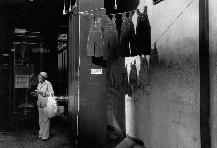 A Woman with Hanging Overalls, Harlem, 1978