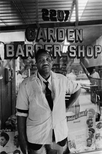 Garden Barber Shop, Harlem, 1975