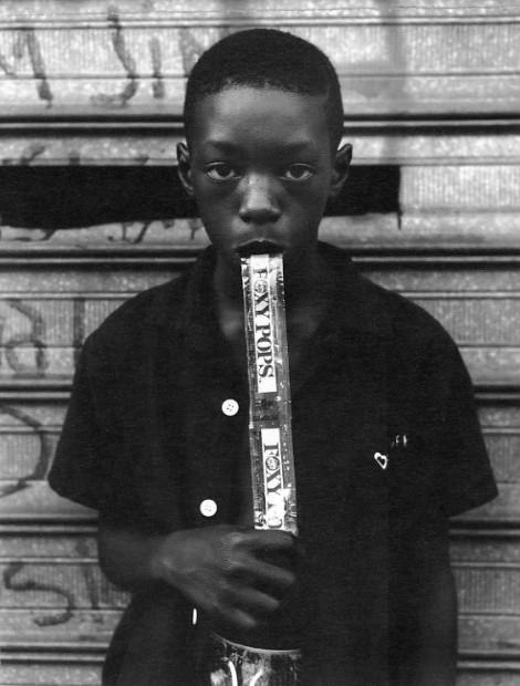 A Boy Eating a Foxy Pop, Brooklyn, NY, 1988