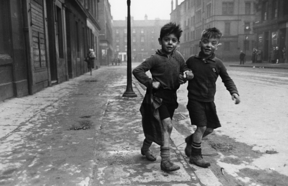 Two Boys on Shopping Errand, The Gorbals, Europe