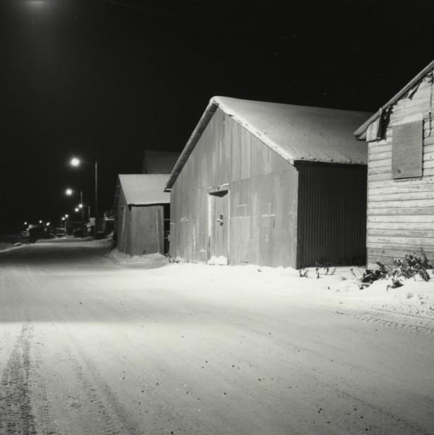 Sheds, Front Street Kotzebue, December 1989