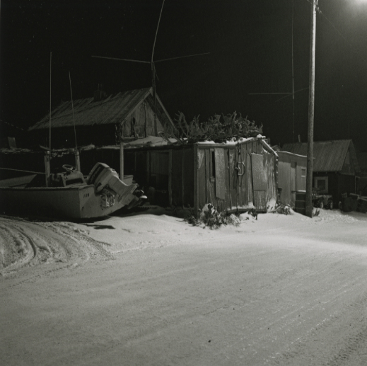 Boat and House, Front Street Kotzebue, December, 1989