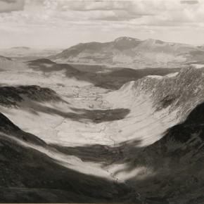 Towards Skiddaw, Lake District; mountains, valley, shadows