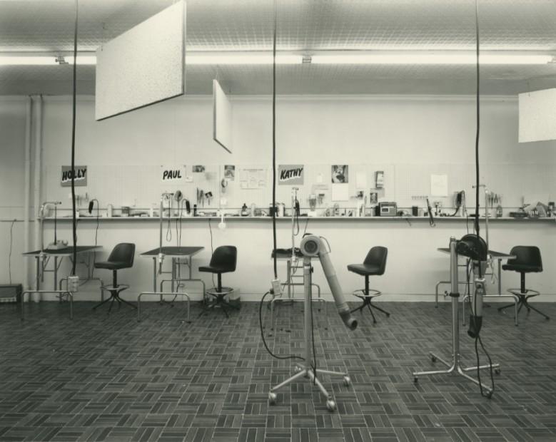 Lynne Cohen <br> Classroom in a Dog Grooming School, Minneapolis, Minnesota, 1982