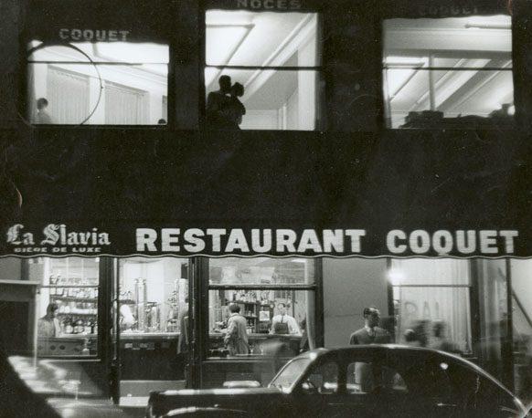 Restaurant Coquet, Paris, 1953