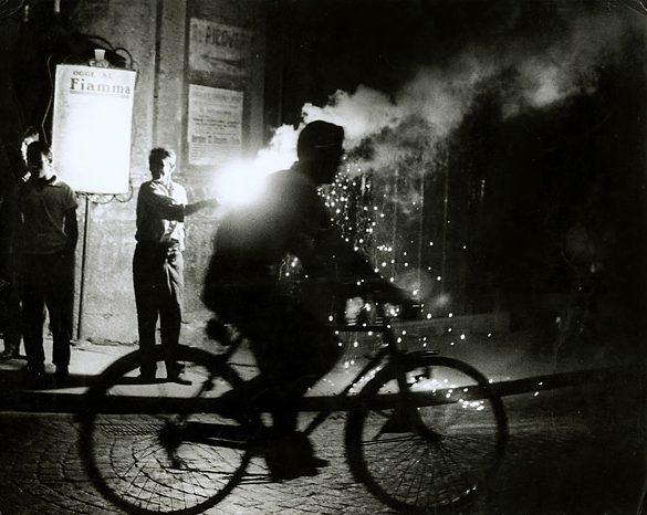 Bicyclist, Naples, Italy