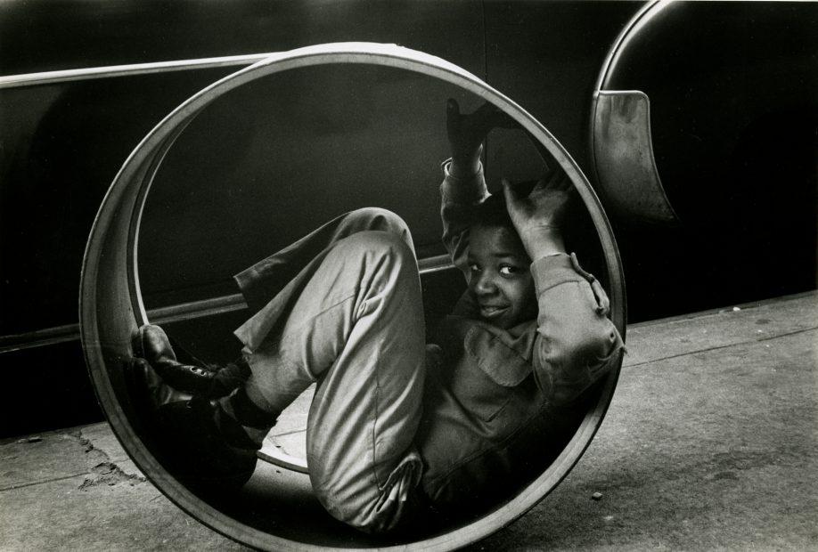 Boy Playing, New York, 1955
